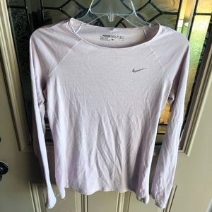 Nike Golf Dri-Fit, Lavender Long Sleeve Shirt, SM